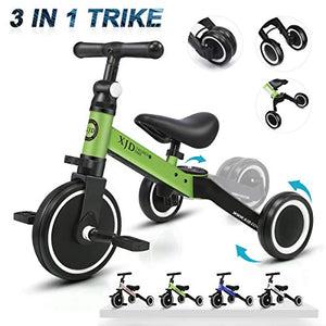 3 in 1 Kids Tricycles for 1-3 Years Old Kids