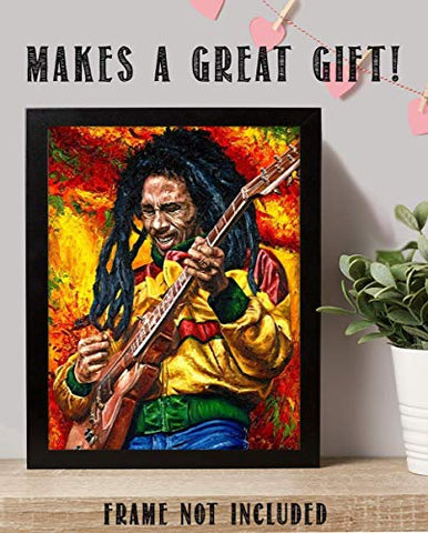 """Bob Marley-Rocking""- Abstract Concert Wall Art - AVM"