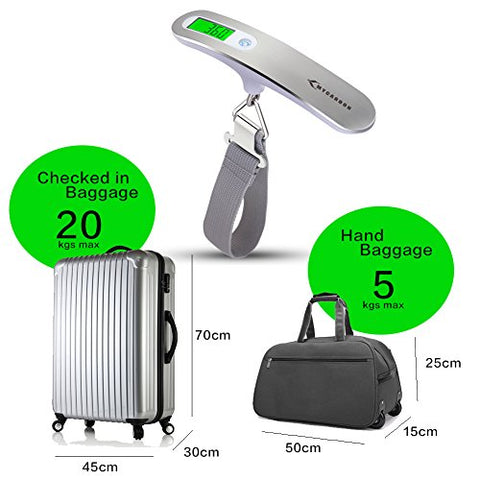 Luggage Digital Scale, MAX 110lb/50kg - AVM
