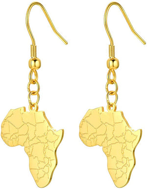 Afrika Map Design Earrings - AVM