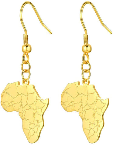 Image of Afrika Map Design Earrings - AVM