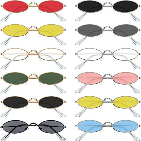 Image of 12 Pieces Oval Sunglasses - AVM