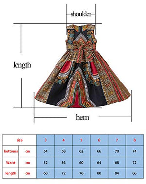 Girls Dashiki Print Dress Afrikan Tradition Dresses