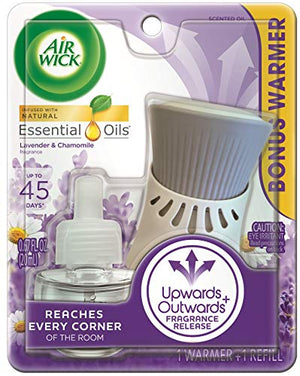 A18- plug in Scented Oil, Starter Kit, Lavender & Chamomile 1ct, Essential Oils, Air Freshener - AVM