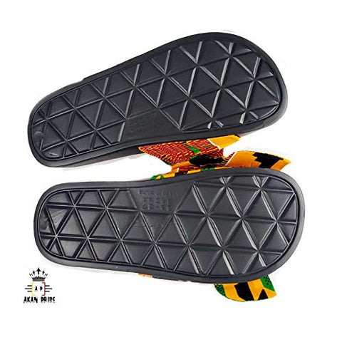 Women Open Toes Afrikan Kente Slide Sandals