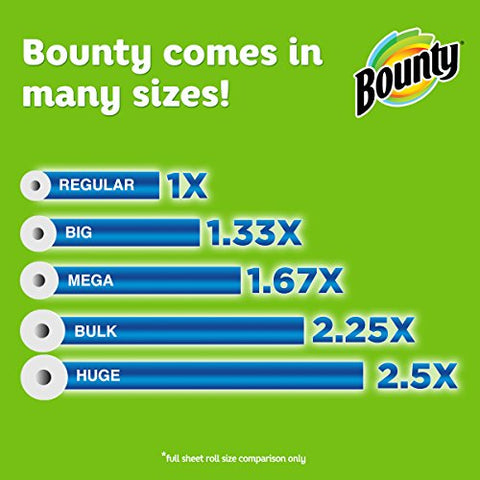 Image of Bounty Select-a-Size Paper Towels, White, 6 Double Rolls = 12 Regular Rolls, Prime Pantry