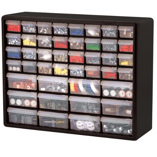Hardware and Craft Cabinet, Black - AVM