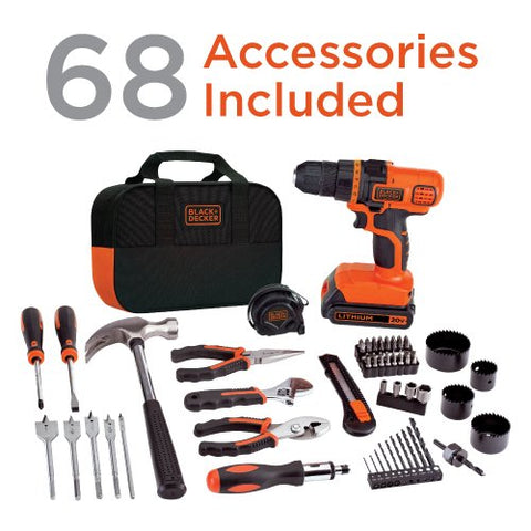 20V MAX Drill & 67 Home Tool Kit - AVM