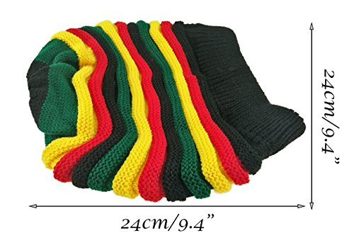 Colored Striped Long Style Jamaican Reggae Hat - AVM