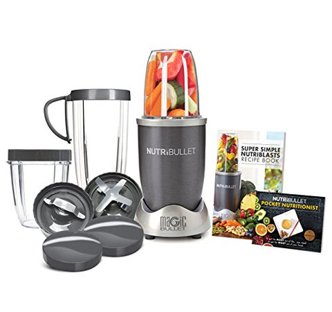 Image of NutriBullet 12-Piece High-Speed Blender/Mixer System, Gray (600 Watts)