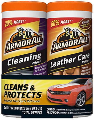 Image of 2 Pack All Car Cleaning and Leather Wipes - AVM