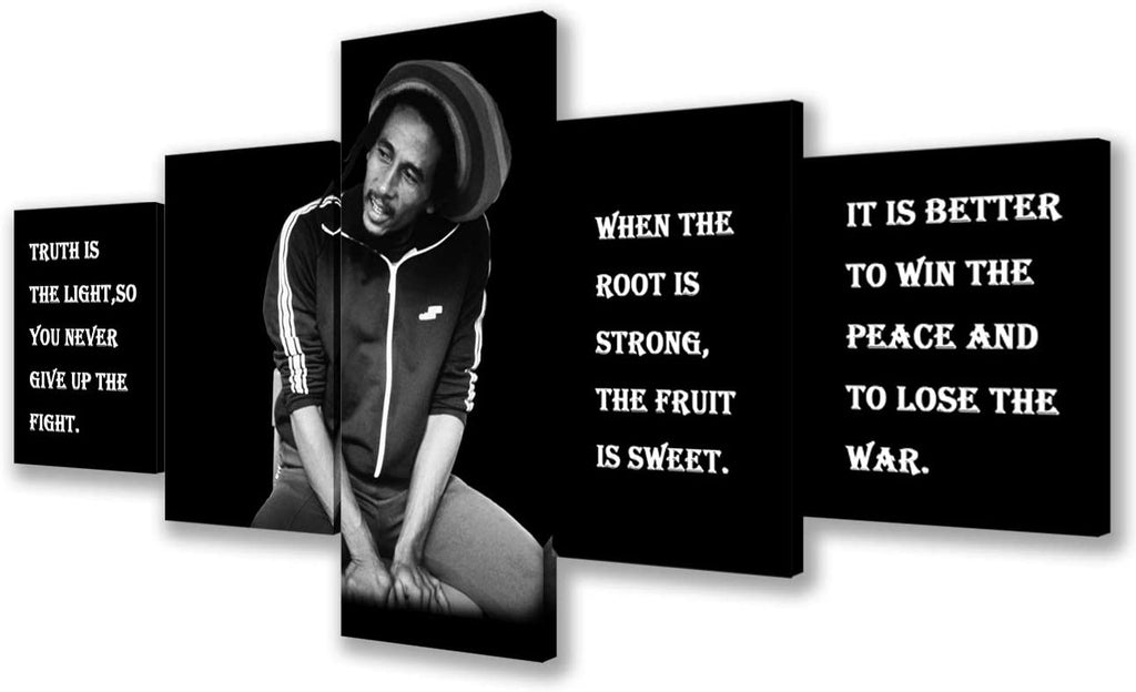 Art Framed Bob Marley Pictures with Inspirational Quotes