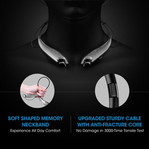 Bluetooth Headphones With 13 Hours Playtime, Call Vibrate Alert and Noise Cancelling Mic