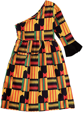 Girls Boho Afrikan Floral Dress - AVM