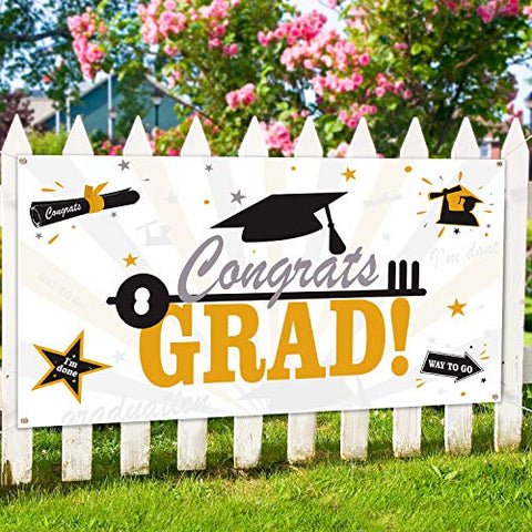 Large Fabric Graduation Party Banner - AVM