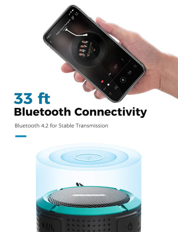 Image of Loud Waterproof Portable Bluetooth Speaker with 6 Hour Playtime, Compatible with IOS, Android, PC, Pad