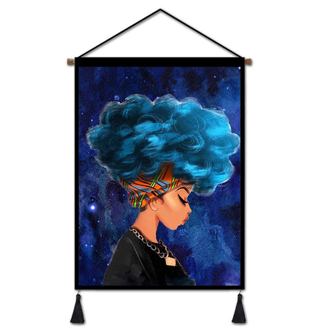 Image of Afro Girl Wall Art - AVM