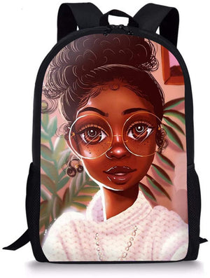 Backpacks Afrikan Girls Hairstyle Printed