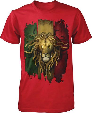 Image of Rastafarian Lion Men's T-Shirt - AVM