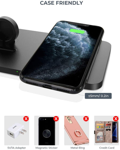 Image of Wireless Charger For iphone, Airpods pro/Airpods 2+ and iwatch series - AVM