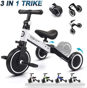 3 in 1 Kids Tricycles for 1-3 Years Old Kids - AVM