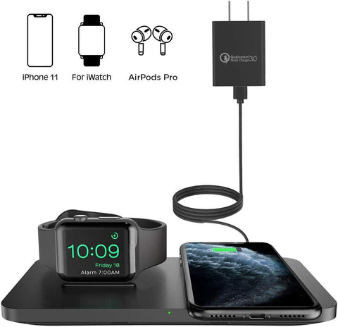 Wireless Charger For iphone, Airpods pro/Airpods 2+ and iwatch series - AVM