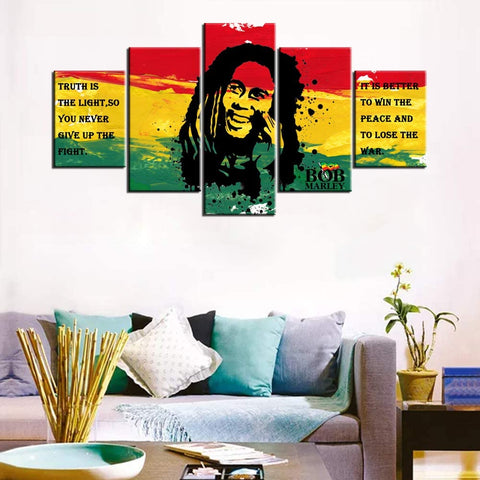 Art Framed Bob Marley Pictures with Inspirational Quotes - AVM