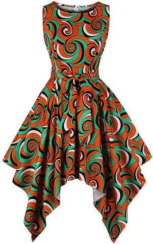 Women's Dashiki Afrikan Print Dress - AVM