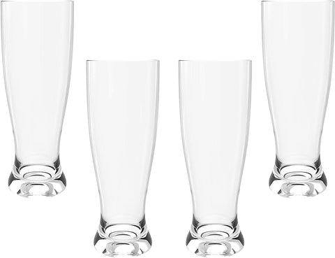 Image of Flared Glass Pilsner Glasses-4 count - AVM