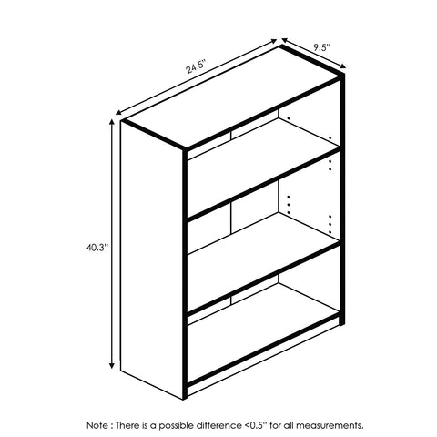 Image of Simple Home 3-Shelf Bookcase A120 - AVM
