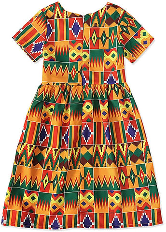 Image of Girls Boho Afrikan Floral Dress - AVM