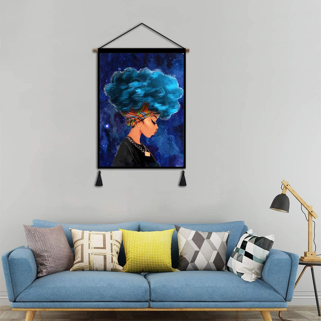 Afro Girl Wall Art - AVM