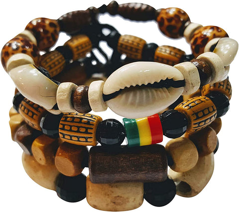 Adjustable Length Afrikan Bracelets and Necklaces for Men Women - AVM