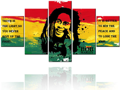 Image of Art Framed Bob Marley Pictures with Inspirational Quotes