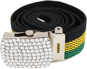 Rastafarian Belt with Custom Stylish Buckle