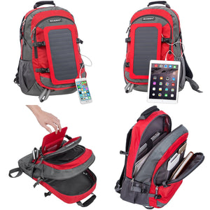 Smart Hiking Backpack, provides solar power
