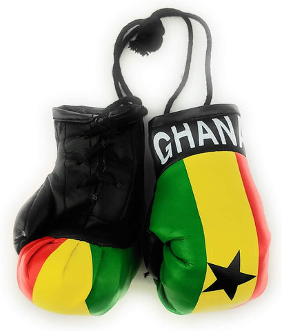 Hanging Car Mirror Mini Boxing Gloves (Ghana) - AVM