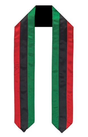 Image of Pan Afrikan Flag Graduation Sash/Stole - AVM