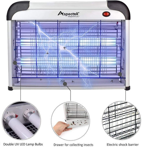 Image of 20W Electronic Bug Zapper, Insect Killer - AVM