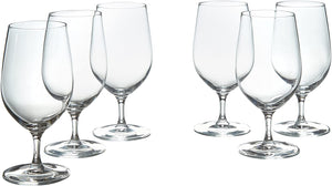 Clear Oliver Glass Water Goblets- Set Of 6 - AVM