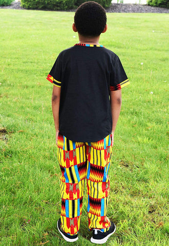 Image of Afrikan Print Kente Kids Suit - AVM