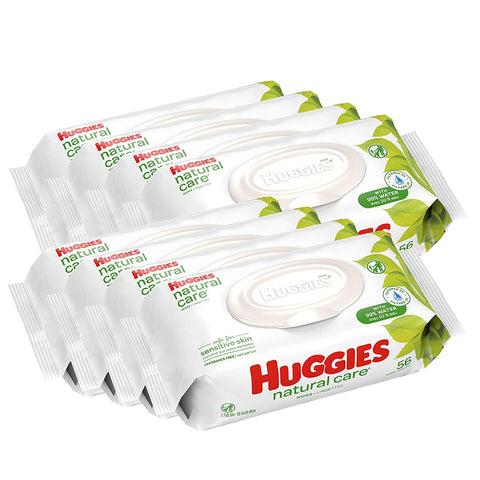 Image of HUGGIES Natural Care Unscented Baby Wipes (8 Packs) - AVM