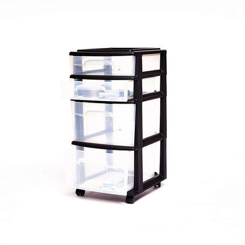 Plastic 4 Drawer Medium Cart - AVM