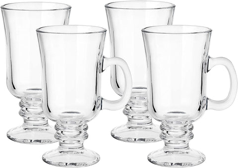 Image of Clear Glass Coffee Mugs- set of 4 - AVM
