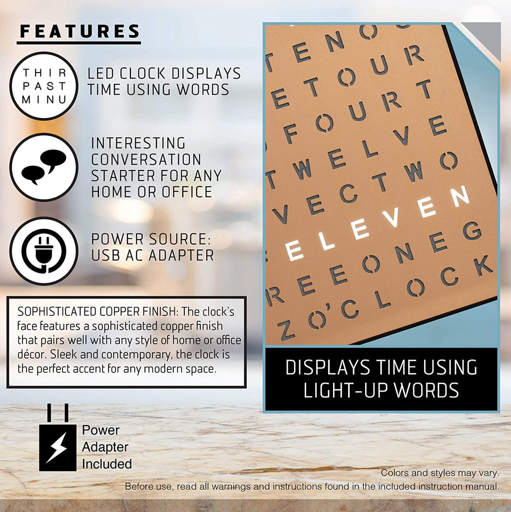 Light Up Electronic Word Clock - AVM