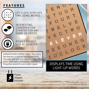Light Up Electronic Word Clock