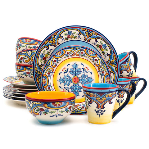 16 Piece Dinnerware Set Kitchen and Dining - AVM