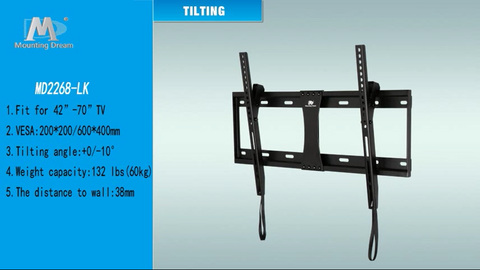 Image of Mounting Dream Tilt TV Wall Mount Bracket for Most 37-70 Inches TVs - AVM