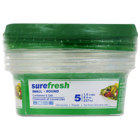 Sure Fresh Rectangular Storage Containers with Blue and Green Lids - AVM