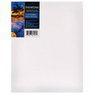 White Stretched Canvases, 6 Pack - AVM